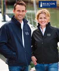 A superb quality Corporate Jacket by Beacon Sportswear. Style Mens, Perkins and Ladies, Libby. Sample inspection service is available. One of our best selling jackets for business, or sporting clubs. The jackets look fantastic when embroidered with your company logo. The Perkins and Libby Jacket has been one of our best selling jackets for 3 years. The Soft Shell, Three Layer fabric is water and wind repellant, breathable, flexible and comfortable.Available in Navy and Black. For all the details and to arrange and inspection of this product please call Renee Kinnear or Shelley Morris on FreeCall 1800 65 990.