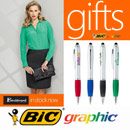 Find inexpensive promotional products here that will provide big impact for a low cost, includes Bic Pens, Tote Bags and Gifts,