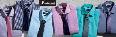 Boulevard Business Wear includes a unique range Mens and Ladies Shirt and Accessories for business uniforms and outfits. The Shirts include Checks, Stripes, Solid Colours, 100% Cotton and Cotton Rich Shirts. For all the details the best idea is to call Renee Kinnear or Shelley Morris on FreeCall 1800 654 990.