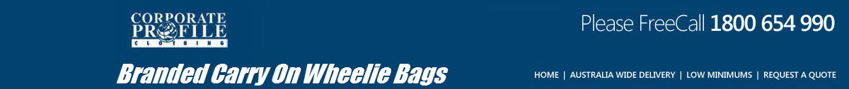 Branded Carry On Wheelie Bags