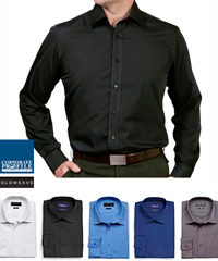 Cafe Slim Fit Shirt #1520L With Logo Service. Also available in regular Career Fit #1272L. Regular collar, adjustable cuffs and a silk protein finish for lasting comfort. High performance fabric is Easy To Iron, 35% Cotton 65% Polyester with Silk Protein Finish. Available in 5 Colours.  For all the details and to arrange a Sample for Inspection please call Renee Kinnear or Shelley Morris on FreeCall 1800 654 990.