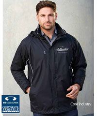 Core Industry Jackets #J236ML with Logo Service. Showerproof Jacket, lined with microfleece for warmth. 5 colour combinations. Unisex sizes from XXS-5XL. The #J236ML is also popular with football and winter sports clubs. Biz Collection. Great Brand. Great Price. For all the details please FreeCall 1800 654 990.