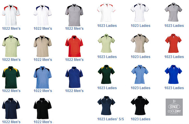 Stencil Corporate Club Polo Shirts For Your Logo