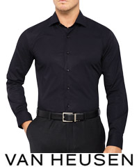 Black Slim Fit Shirt by Van Heusen #AS200 Corporate Sales 200px
