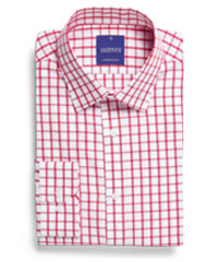 Corporate-Check-Shirt-Red #1712L With Logo Service
