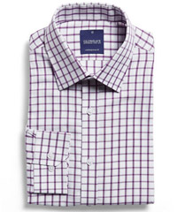 Corporate-Check-Shirt-Purple #1712L With Logo Service