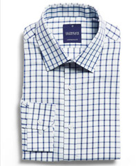 Corporate-Check-Shirt-Navy #1712L With Logo Service