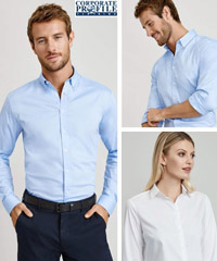 Impressive smart casual looks, a Cotton Shirt for Company and Clubs. Available White and Oxford Blue. No Pocket Style #S016ML and Ladies #S016LL . Enjoy the comfort of Premium 97 percent Cotton with Stretch fabric. Mens Sizes XS-5XL and Womens 6-26 Long and Short Sleeve. For details FreeCall 1800 654 990.