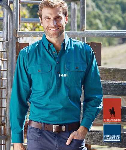 Teal-Country-Workshirt-#TCP1120163-With-Logo-Service