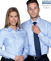 Cotton Houndstooth Shirt #TNP With Corporate Logo Service100% Cotton Yarn dyed houndstooth with tapered fit, fashion collar, cufflink facility. Features contrast stitch detailing on select buttons. Mens SM-5XL, Womens 8-26 Womens shaped body detailing.Colour, Blue. For all the details please FreeCall 1800 654 990