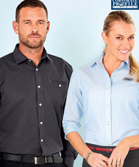 Notice the pocket on Mens Shirt #2031, a high performance fabric is 50% Combed Cotton, available Charcoal , Blue, Grey Silver,Navy, Sky. For all the details please call Leigh Gazzard at Corporate Profile on FreeCall 1800 654 990