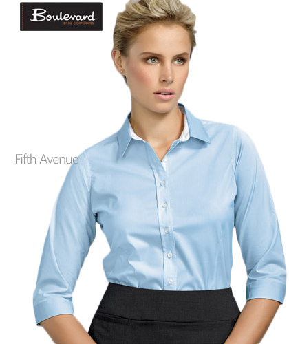 Fifth-Avenue-Shirt-Ladies-#40111-Alaskan-Blue-With-Logo-Service-420px
