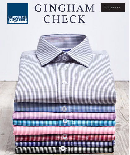 Mens Pink Gingham Shirt