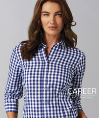 Ladies-Navy-Check-Shirt-200px