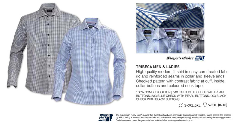 Product Details for Corporate Check Shirt-#Tribeca With Logo Service