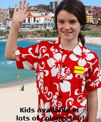 Hawaiian Shirts in Australia #bigisland With Logo Service, bulk order with Big Flower, Parrots, Hibiscus, Big Island, Raro and Frangipani. Lovely fabric lasts for years, superior resistance to fading in sun, strong colours, fun to wear, colourful for parties. Adults and Kids sizes in most designs.