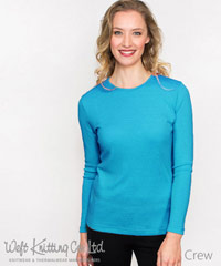 Turqouise-Ladies-Merino-Top-#BR717