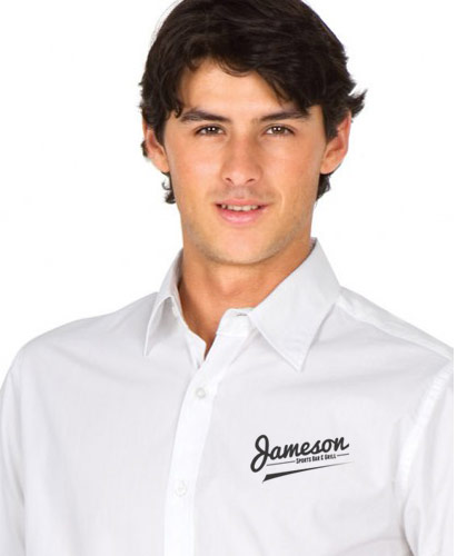 Mod-Fit-Mens-White-Shirt-#S003MS-with-logo-service