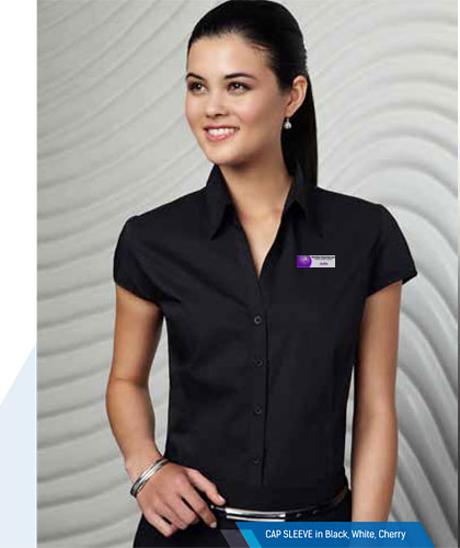 Womens Cap Sleeve Shirts, corporate.com.au