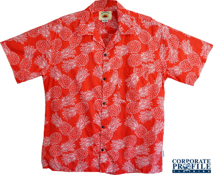 Pineapple Shirt #1250 Red Tropical Collection With Logo Service. Perfect for Bar Staff, Restaurant, Outdoor Staff, Corporate Christmas and Summer Events, Corporate Golf Days, Music Festivals, Tropical Themes, New Years Eve Events, Three colours available Blue, Red and Olive. Sizes XS-3XL Corporate Sales FreeCall 1800 654 990.