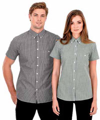 Check-Shirts-Mens-Black-#W46-and-Ladies-#W47-Green