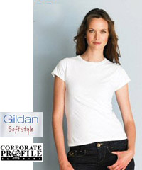Gildan Softstyle White T-Shirt #64000 and Ladies #64000L With Printing Service. 18 colours available in Mens #64000 and Ladies #64000L styles. Contemporary styles for promotional, education and sport industry requirements. Gildan Corporate T-Shirt Distributor: FreeCall 1800 654 990