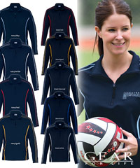 Half-Zip-Tops In Team Colours-#DGRFZ-With-Logo-Service