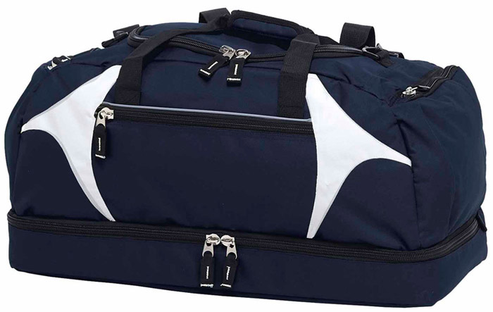 63cm Navy White Sports Bag #BSPS With Logo Service 700px