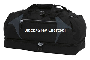 Top quality Black-Grey Charcoal Sports Bag #BGSB  for Australian Sports Clubs