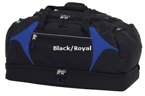 Top quality Black-Royal #BRSB Sports Bag for Australian Sports Clubs