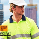 Hi Vis Polo's, Shirts and Shorts printed and embroidered with your logo at Supermarket prices. Australian Industrial Wear conforms with AUS/NZ safety standards. This is to ensurethe comfort and wear of AIW clothing is the highest standard and suitable for the harshest Australian working environment. Corporate Sales FreeCall 1800 654 990