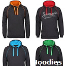 Inspect a Hoodie Sample from the awesome range of Promotional Hoodies. We have large range of Thick Hoodies, Lightweight Hoodies, Fashion Hoodies and Budget Price Hoodies. There are loads of Plain Solid Colours and Combo Team Colours for Sporting Clubs and School Hoodies. Our experienced Embroidery Staff and Printers will provide a top class presentation of your logo on Hoodies and Jackets. Enquiries FreeCall 1800 654 990