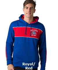 BeSeen-Hoodie-Royal-Red-White-with-logo-200px