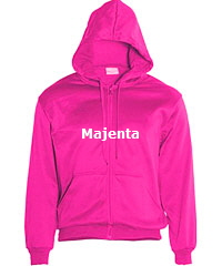 Hoodie-#-CJ1062-Magenta Pink with Logo Service