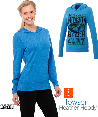 Howson Knit Hoody #18732 and Womens #98732 Olympic Blue With Infusion Print