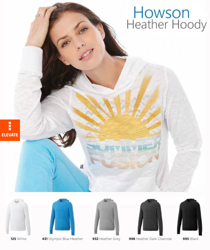 Howson Knit Hoody #18732 and Womens #98732 White With Infusion Print 420px