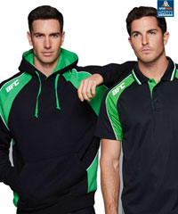 Premium Club Hoodie #1509 and matching Polo  #1309, With Print or Logo Embroidery Service. 14 Club Colours, Adults and Kids Sizes, Call to Inspect a Sample. FreeCall 1800 654 990
