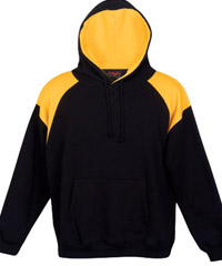 Black-Gold Hoodie #F303HP Shoulder-Panel Hoodie with Logo Service-200px