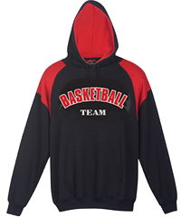 Black and Red Hoodie #F303HP_With Logo Print Service 200px