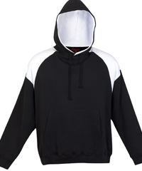 Black and White Hoodie #F303HP_Black_White 200px