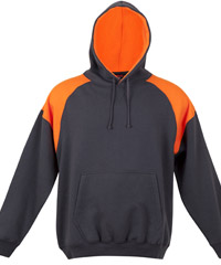 Charcoal-Orange Hoodie #F303HP_New_Charcoal_Orange 200px