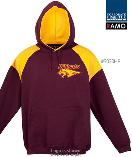 Maroon and Gold Hoodie #F303HP With Logo Service
