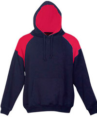 Navy-Red Hoodie #F303HP_With Logo Print Service 200pxa