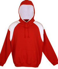 Red-White Hoodie #F303HP_With Logo Print Service 200px