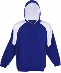 Royal-White Hoodie #F303HP_With Logo Print or Embroidery 200px