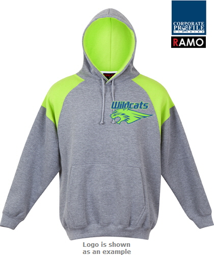 Shoulder Panel Hoodie #F303HP_Marle-Lime 420px