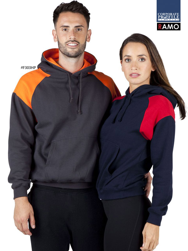 Shoulder Panel Hoodie #F303HP and Womens #F303UN With Logo Service 600px
