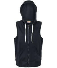 Sleeveless-Hoodie-#F770ZS-and-Ladies-#FZ77UM-Black-200px