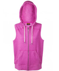 Sleeveless-Hoodie-#F770ZS-and-Ladies-#FZ77UM-Majenta-Heather-200px