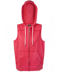 Sleeveless-Hoodie-#F770ZS-and-Ladies-#FZ77UM-Red-Heather-200px